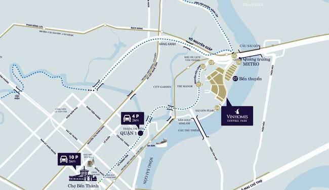 vị trí chiến lược của vinhomes central park quận bình thạnh