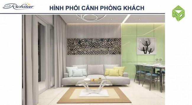 Phòng khách sang trọng tại Căn hộ Richstar Tân Phú