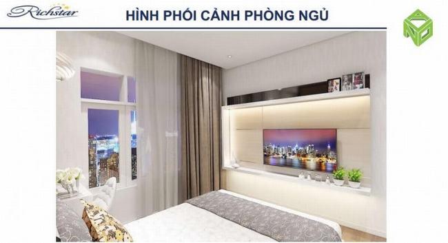 Phòng ngủ ấm cúng tại Căn hộ Richstar Tân Phú