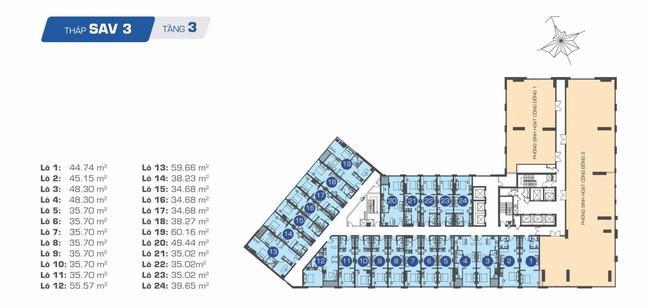 Officetel SAV3 tầng 3