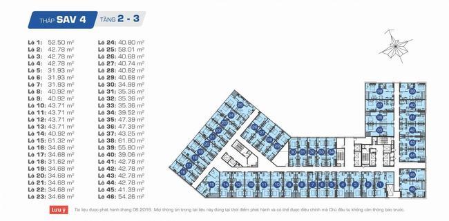 Officetel SAV4 tầng 2 và 3