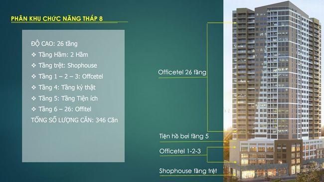 thiết kế chia tầng của tháp sav8 the sun avenue